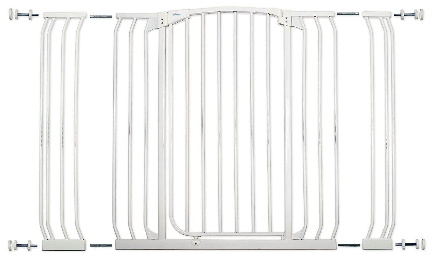 B000F1OQPO Dreambaby Chelsea Extra Tall and Wide Auto Close Security Gate in White with Extensions 810sip9mX7L