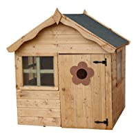 WALTONS EST. 1878 4x4 Wooden Tongue & Groove Snug Playhouse, Windows, Single Door, Apex Roof, 4ft 4ft, Free 3-5 Day Delivery + 10 Year Anti-Rot Guarantee From Waltons