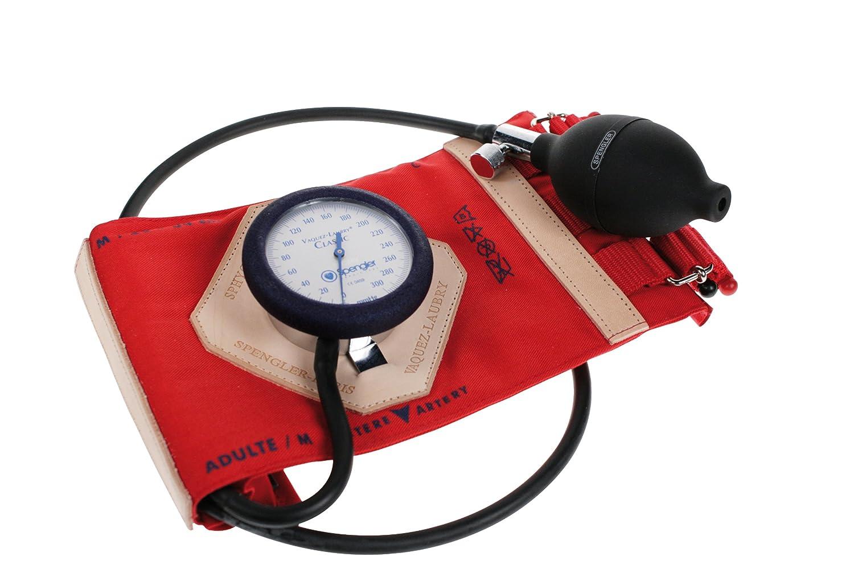 Spengler Vaquez-Laubry Classic - Tensiómetro con brazalete para adultos (con correas, algodón, talla M), color rojo: Amazon.es: Industria, ...