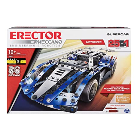 Amazon Com Erector By Meccano Supercar 25 In 1 Model Vehicle