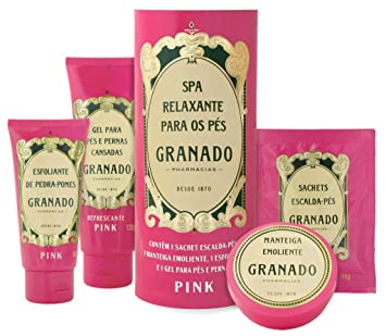 Linha Pink Granado - Spa Relaxante Para os Pes (Kit) - (Granado Pink  Collection - Feet Relaxing Spa (Pack))