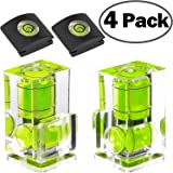 Hot Shoe Level, 4Pack ChromLives Hot Shoe Bubble Level Camera Hot Shoe Cover 2 Axis Bubble Spirit Level For DSLR Film Camera Canon Nikon Olympus,Combo Pack - 2 Axis and 1 Axis