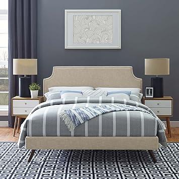 Amazon.com: Modway mod-5949-bei Corene plataforma de cama ...