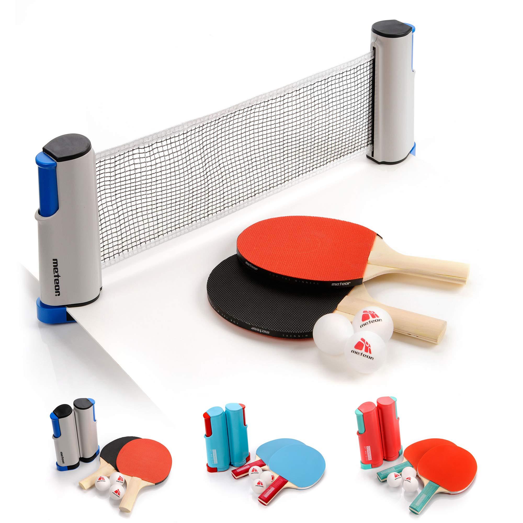 Instant Table Tennis Kit Ping Pong Set Portable Retractable Net 2 Bats