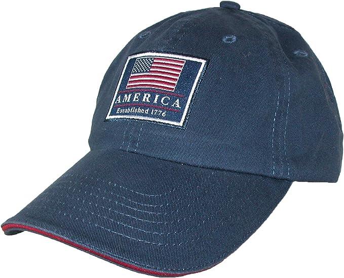 Dorfman Pacific algodón Gorra de béisbol con la Bandera Americana ...