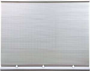 """Radiance Cord Free 1/4 Inch Oval PVC Shade, White, 36 Inches x 72 Inches Roll Up Blind, 36"""" W x 72"""" L"""