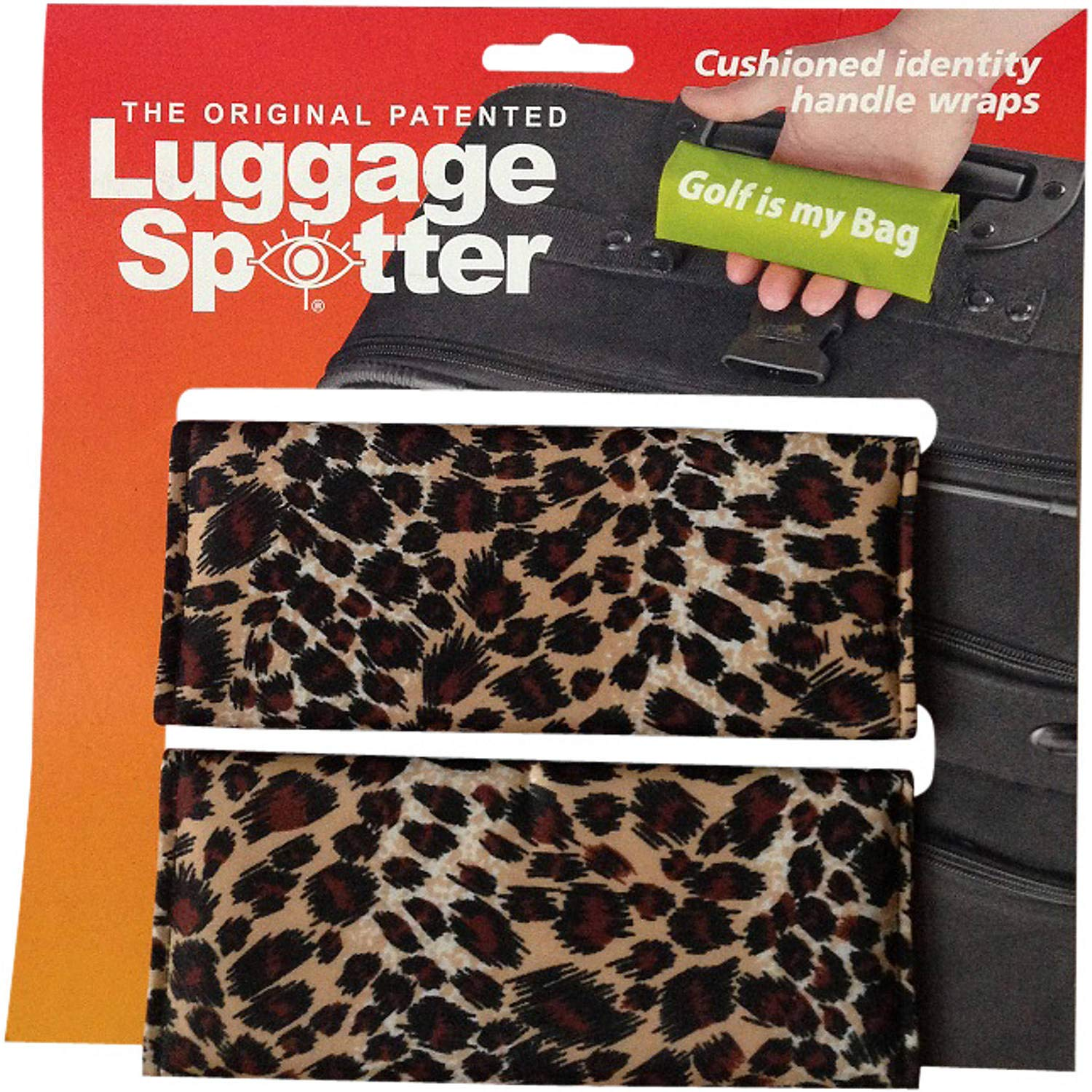50% OFF! LEOPARD Luggage Spotter Luggage Locator/Handle Grip/Luggage Grip/Travel Bag Tag/Luggage Handle Wrap (2-pack) – CLOSEOUT ON THIS PATTERN!
