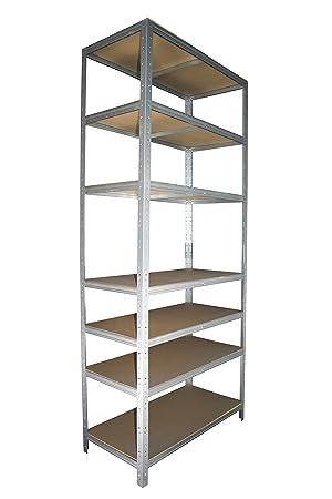Favorit Schwerlastregal 230 x 60 x 40 cm mit 7 Böden: Regal aus Metall MZ86