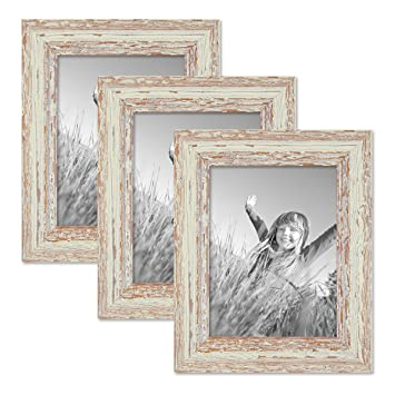 Amazoncom Photolini Set Of 3 Picture Frames With Dimensions Of 6