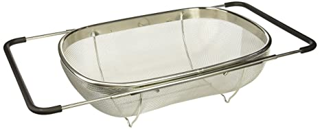 Culina 20235 Strainer Over The Sink Oval Mesh Expandable