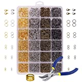 Amazon Price History for:OPount3142 Pieces Jewelry Making Kit with Open Jump Rings, Lobster Clasps, Open Ring, Bent Chain Plier