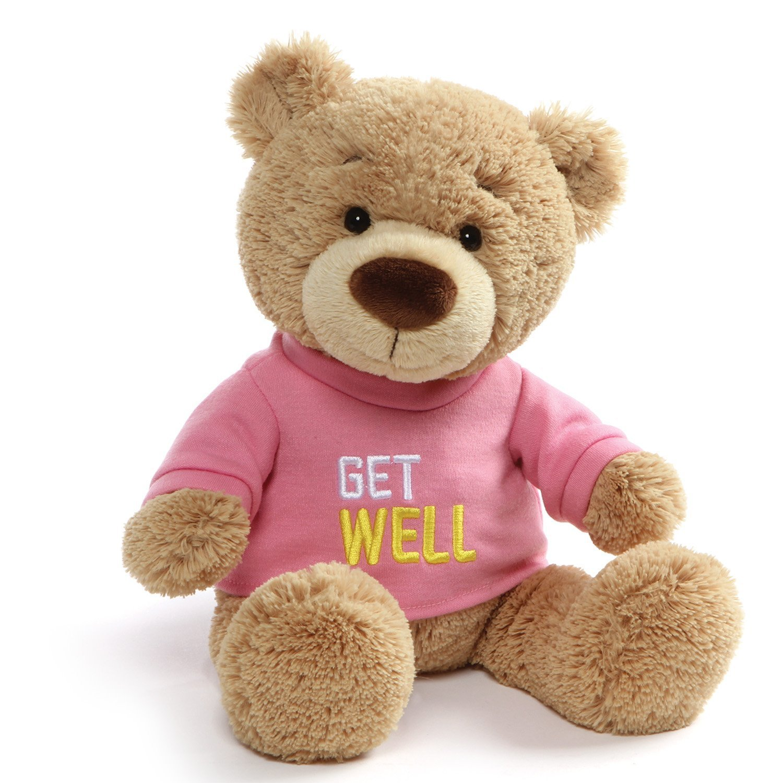 f93b211f547 Amazon.com  Get Well Teddy Bear Plush(Pink)