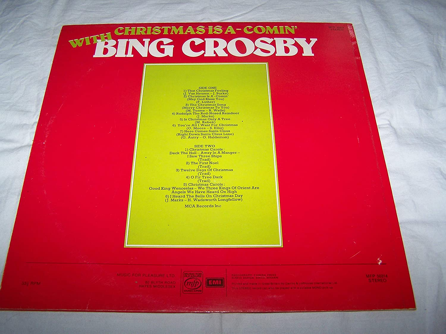 Bing Crosby I Heard The Bells On Christmas Day Christmas Is A