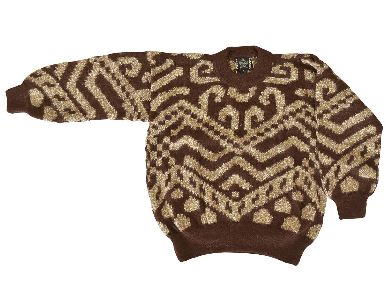 アルパカ 100% セーター メンズ M ブラウン 高品質 ペルー製 alp001M-24 B07CZFDBGQ