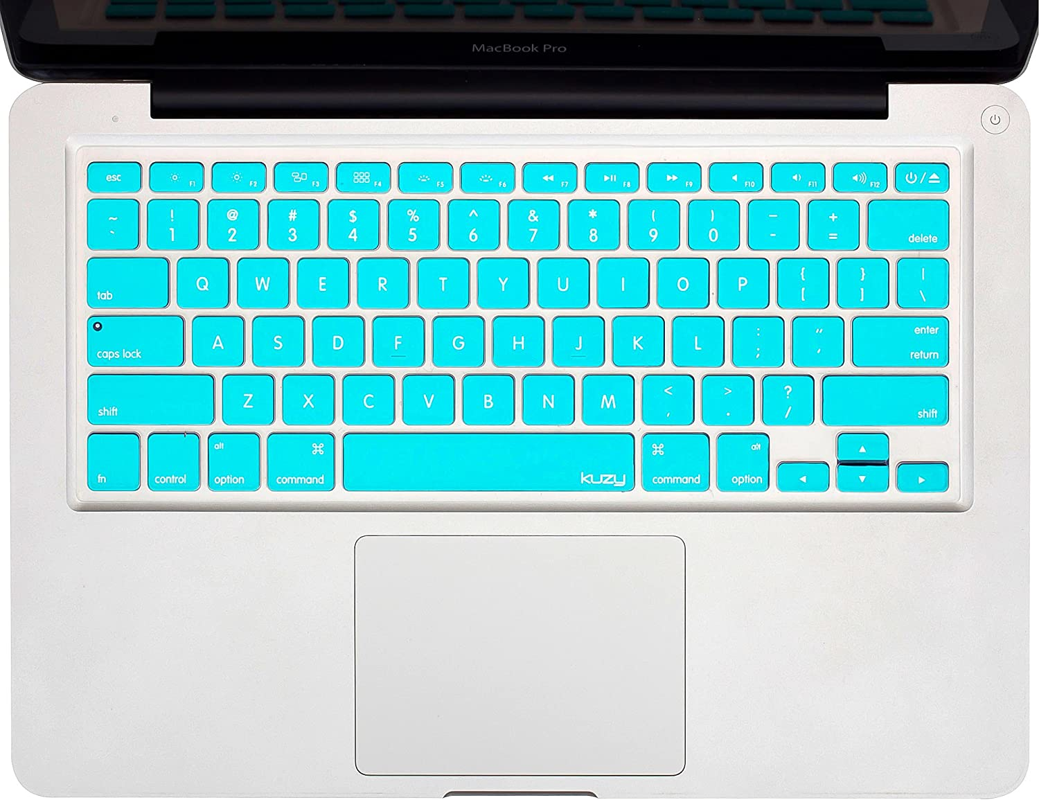 """Kuzy - Neon Teal Keyboard Silicone Cover Skin for MacBook Pro 13"""" 15"""" 17"""" (with or w/Out Retina Display) iMac and MacBook Air 13"""" - Neon Teal"""