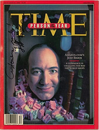 Rare Jeff Bezos Customers Rule Signed 1999 Time Magazine Man Of The