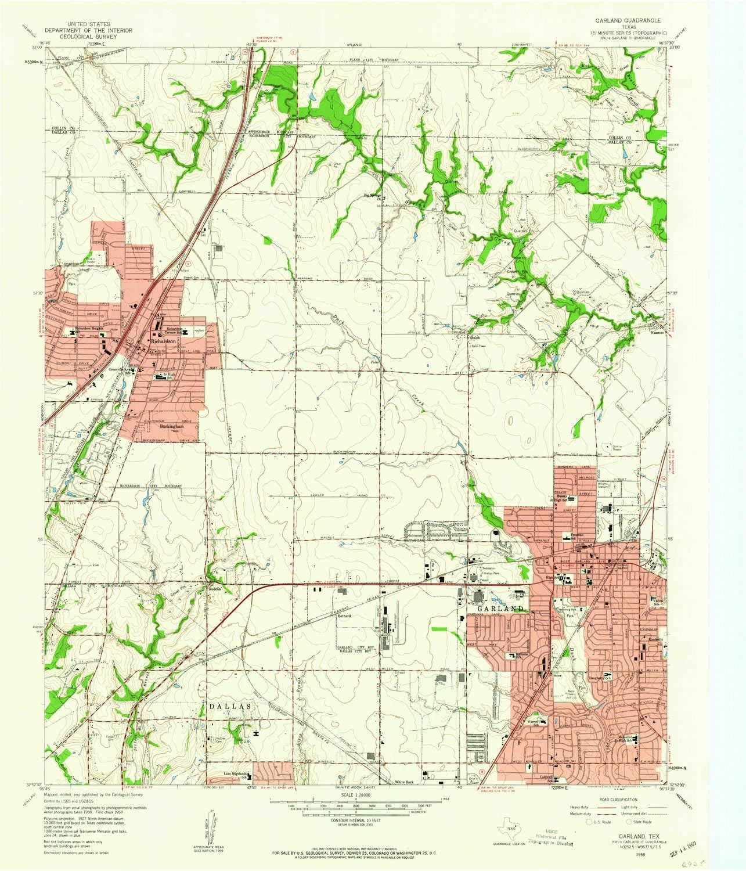 Amazon Com Yellowmaps Garland Tx Topo Map 1 24000 Scale 7 5 X