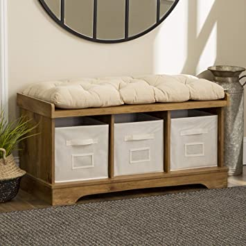 Wondrous We Furniture Storage Bench 42 Barnwood Gmtry Best Dining Table And Chair Ideas Images Gmtryco