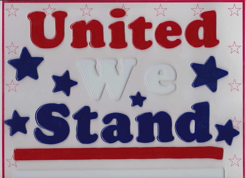 United We Stand Gel Window Clings