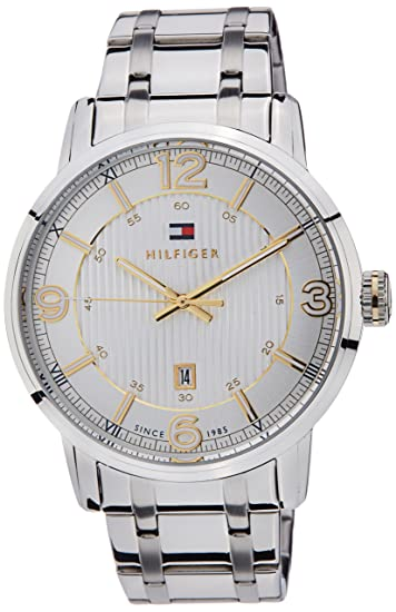 7f5abead2c32 Buy Tommy Hilfiger Analog White Dial Men s Watch - TH1710344J Online at Low  Prices in India - Amazon.in