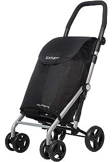 Carlett Carro DE Compra Aluminio Negro, 30x42x67 cm: Amazon ...