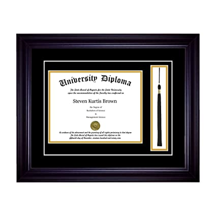 Amazon Com Single Diploma Frame With Tassel And Double Matting For