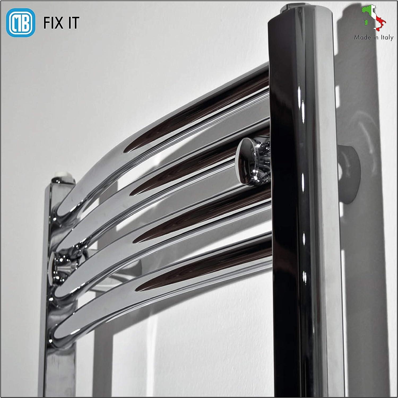 Diam/ètre tubes de /Ø15 /à 28 mm blanc /Étag/ères de pr/êt installation pour radiateurs de salle de bain s/èche-serviettes en ABS Tenue 90 kg Distance entre les tubes de 11 /à 22 mm