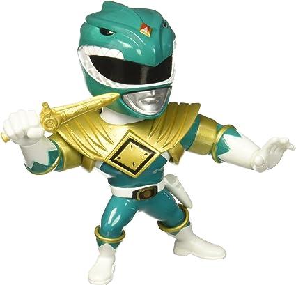 """JADA 4/"""" metalli POWER RANGERS RANGER VERDE Tommy Diecast Action Figure mmpr"""