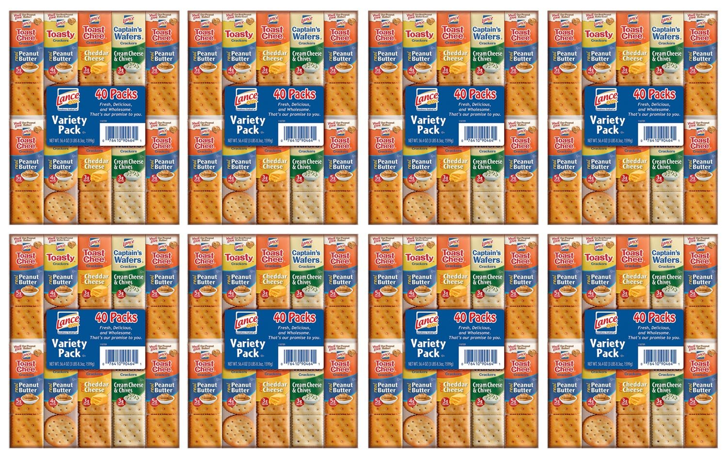 Lance Sandwich Cracker Variety Pack (40 ct.) - Pack of 8