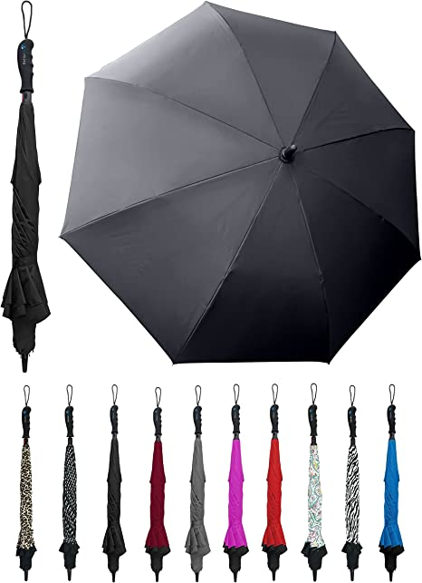 Double Layer Inverted Inverted Umbrella Is Light And Sturdy Dandelion Against Black Background Reverse Umbrella And Windproof Umbrella Edge Night Ref