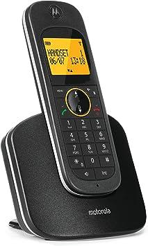 Motorola D1001 - Teléfono (Teléfono DECT, Altavoz, 100 entradas, Identificador de Llamadas, Negro): Amazon.es: Electrónica