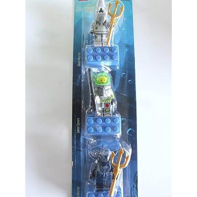 LEGO Atlantis Magnet Set of 3 - Shark, Lance, Manta Warrior: Toys & Games