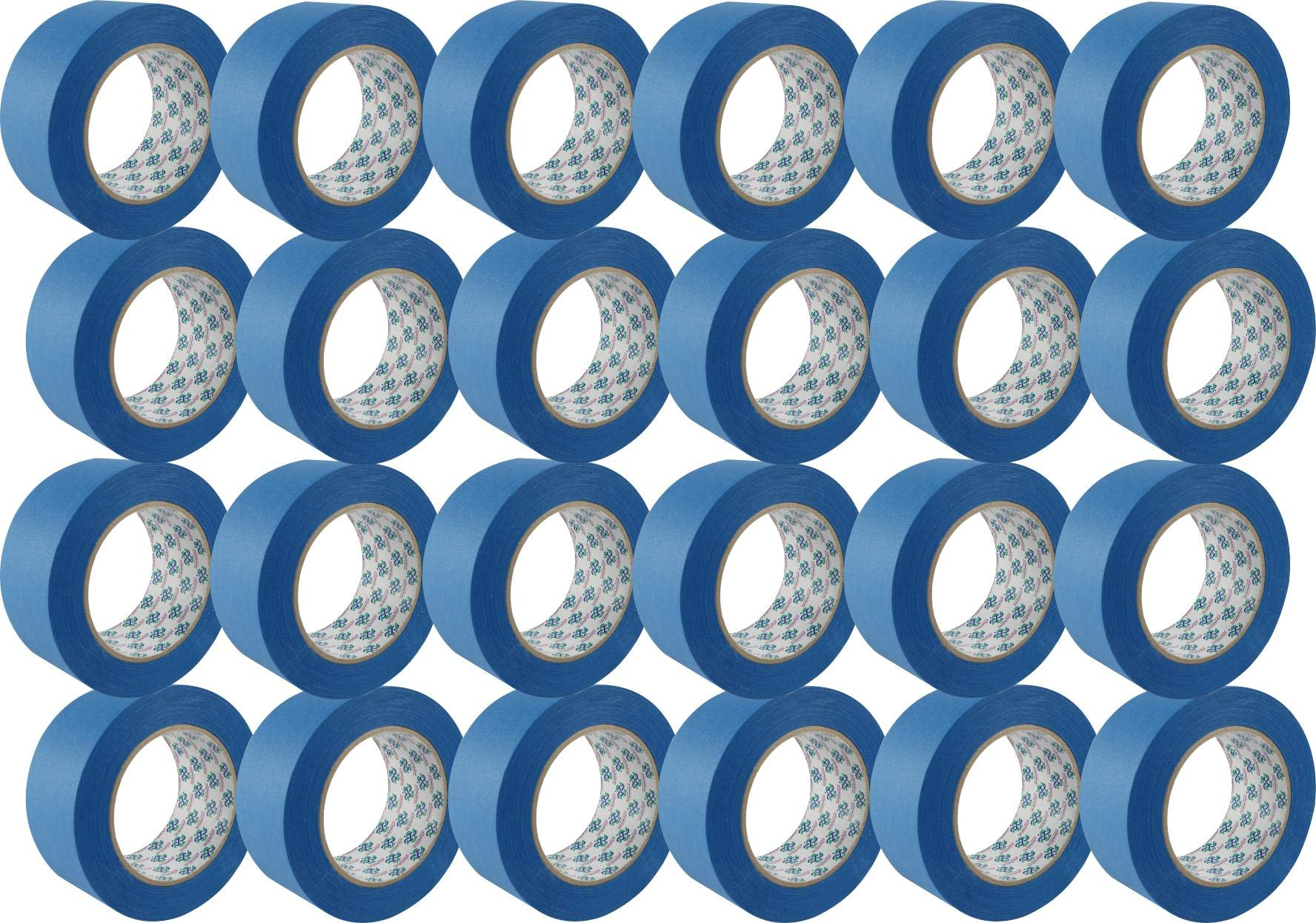 24 Roll 1.88''x 60yd 14 Day Clean Release Painters Tape Bulk, 2 inch Blue Painters Tape Case, Blue Tape 2 inch, Painter's Tape 2 inch, Blue Painters Tape 1.88 inch, Blue Masking Tape 2 inch
