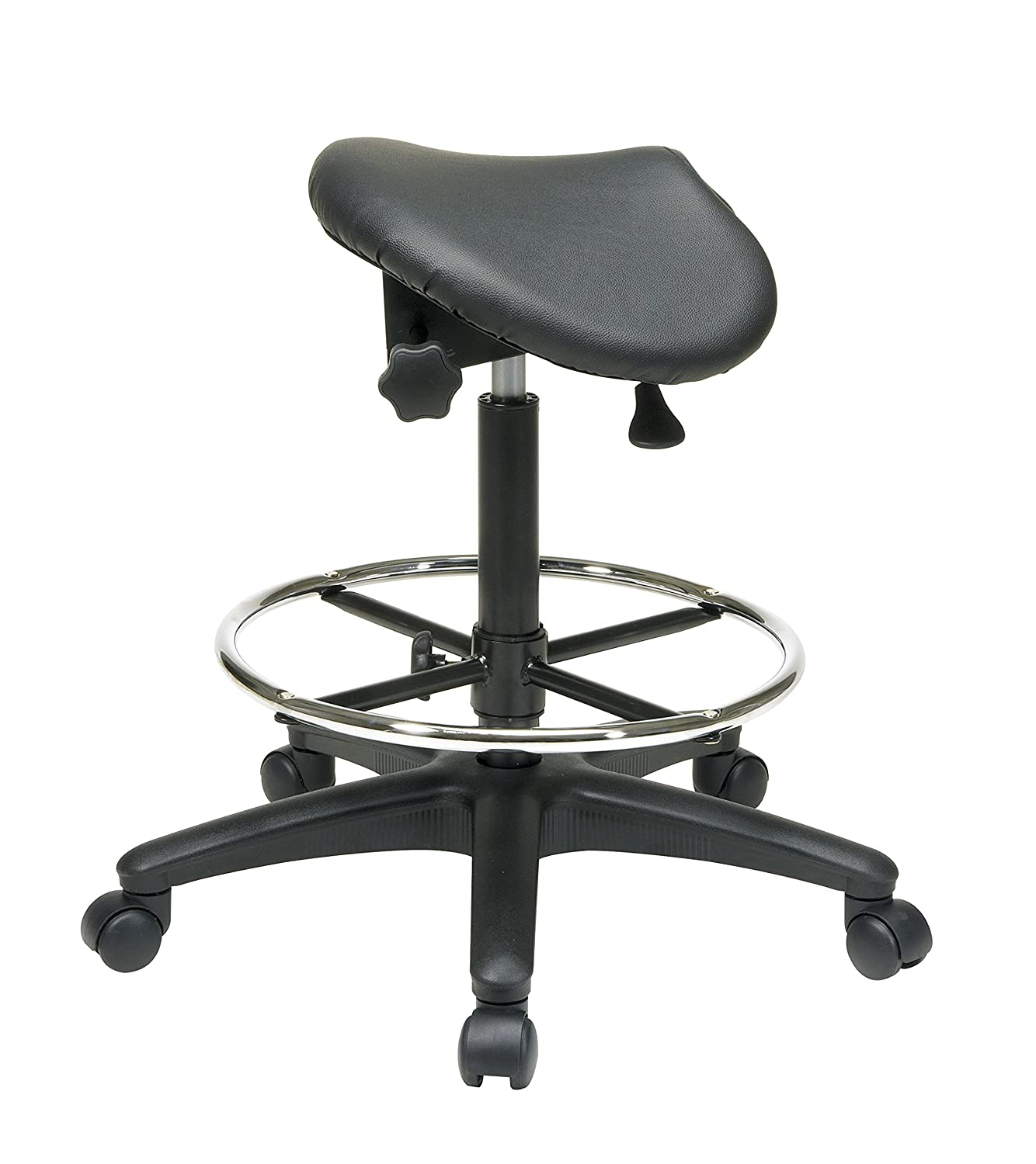 Amazoncom Office Star Backless Office Stool With Saddle Seat And