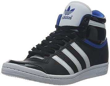 Adidas TOP TEN HI SLEEK UP Black Blue Leather Women Sneakers