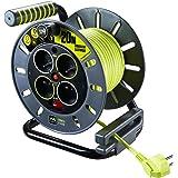 Enrouleur électrique 4 prises 20 mètres NF - câble H05VV-F 3G1.5