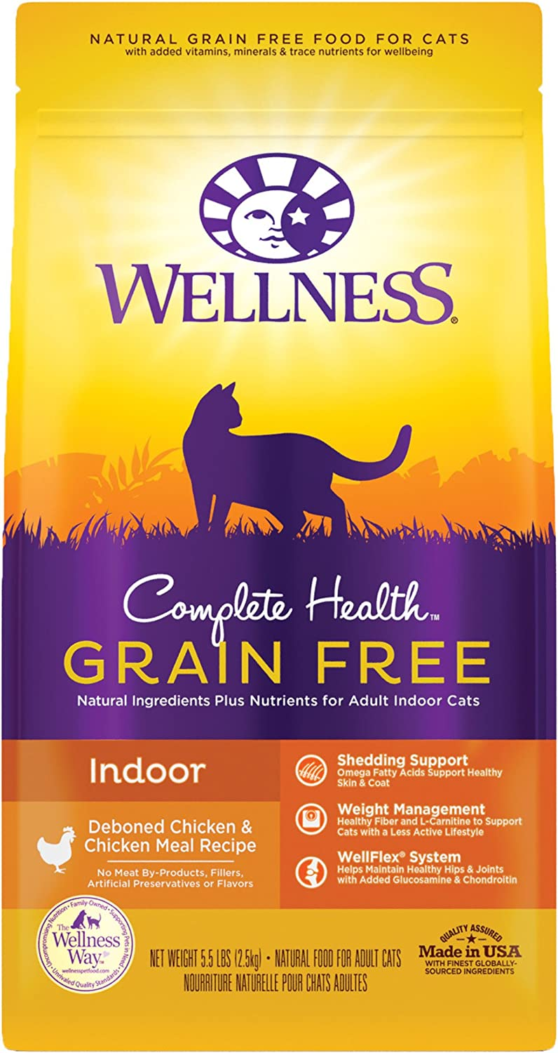 Wellness Complete Health Natural Grain Free Salmon & Herring Indoor Dry Cat Food