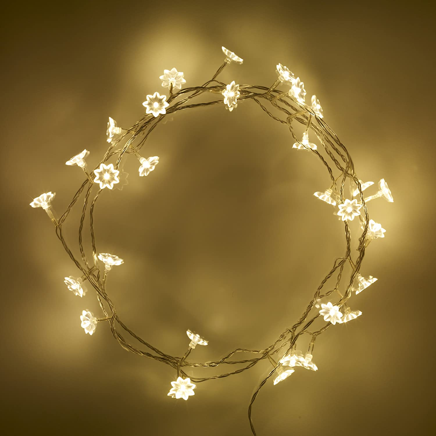Indoor Sunflower Fairy Lights with 30 Warm White LEDs by Lights4fun ...