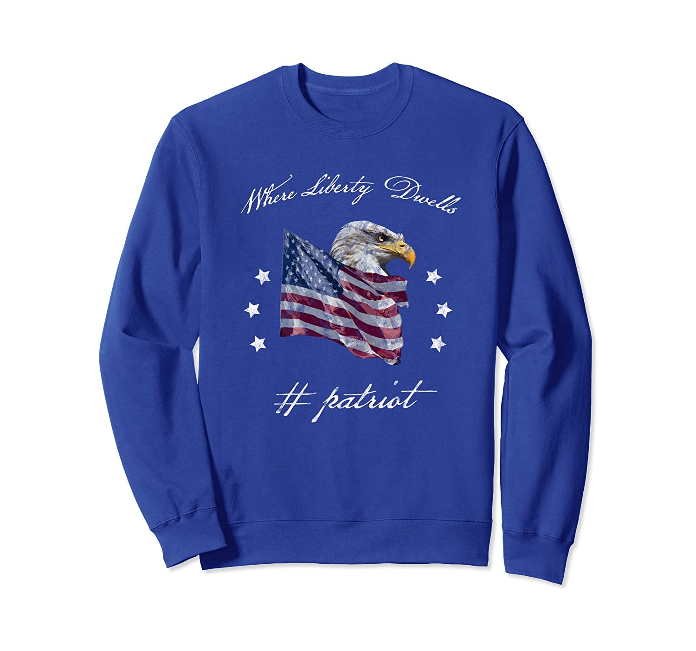 Alt Right Patriotic American Flag Sweatshirt-anz