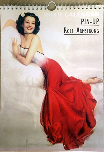 aeb9613be Amazon.com : Rolf Armstrong Wall Calendar 2019 Pin up Glam Sexy Girl ...