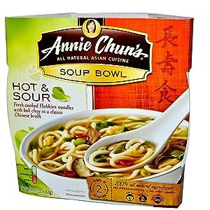 Annie Chun's, Soup Bowl, Hot & Sour, Medium, 5.7 oz (163 g)