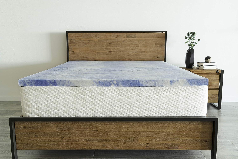 """Dreamfoam Bedding 3"""" Gel Infused, Lavender, Slow Response Memory Foam Topper, Queen"""