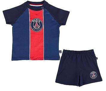 Ensemble bébé t-shirt + short PSG - Collection officielle PARIS SAINT  GERMAIN. b199efec800