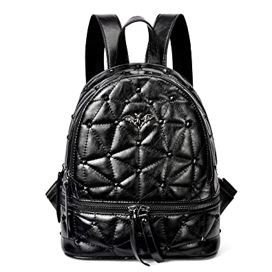 c8eeaa8f47 Amazon.com: PIFUREN Women Fashion Genuine Leather Mini Backpacks Casual  Daypack for Ladies and Girls (S13 Black): Shoes