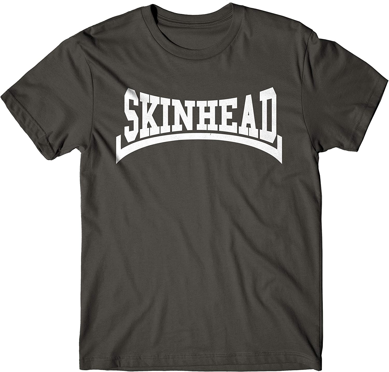 LaMAGLIERIA Camiseta Hombre Skinhead White Print - Camiseta 100% algodòn: Amazon.es: Ropa y accesorios