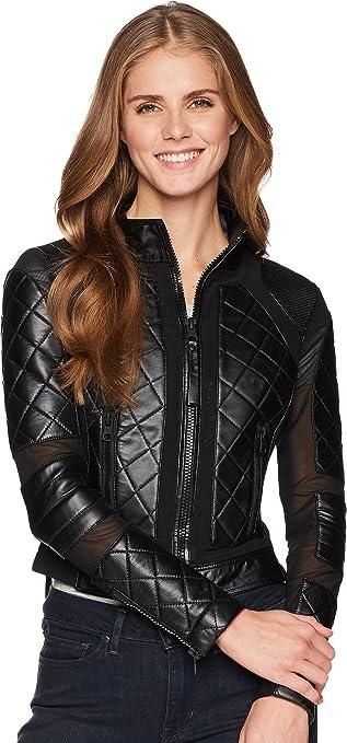 Blanc Noir Womens Moto Jacket Black 1 X Small