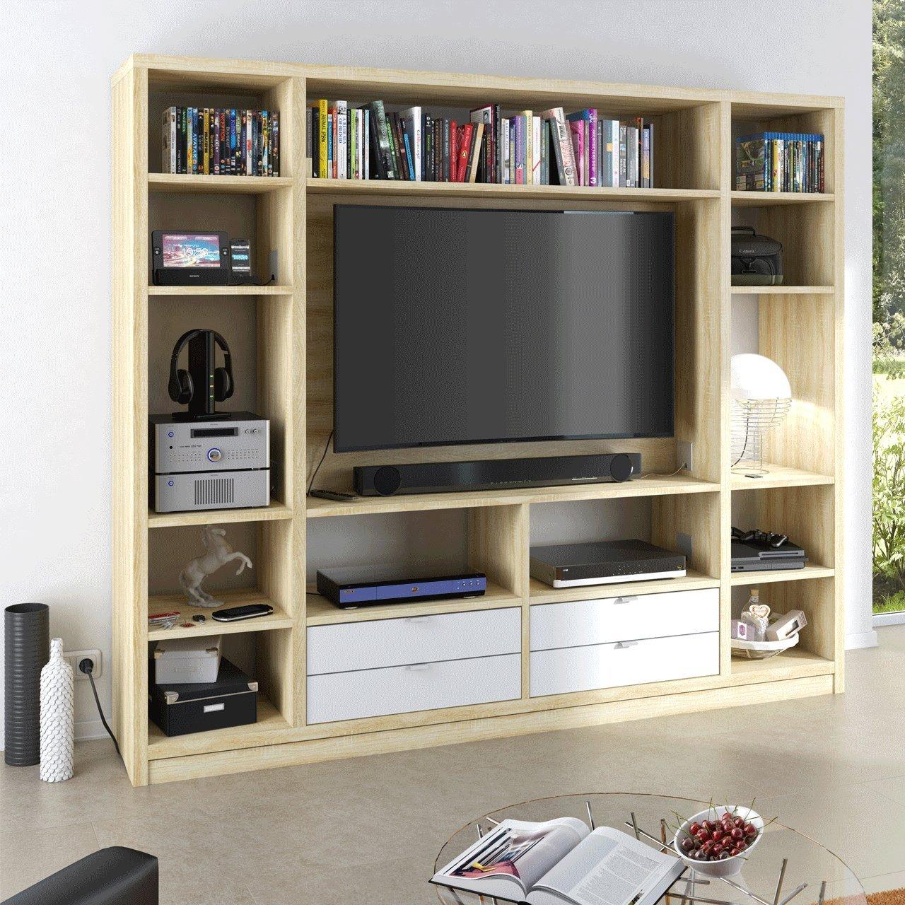 wandregal sonoma eiche affordable wandregal sonoma eiche. Black Bedroom Furniture Sets. Home Design Ideas