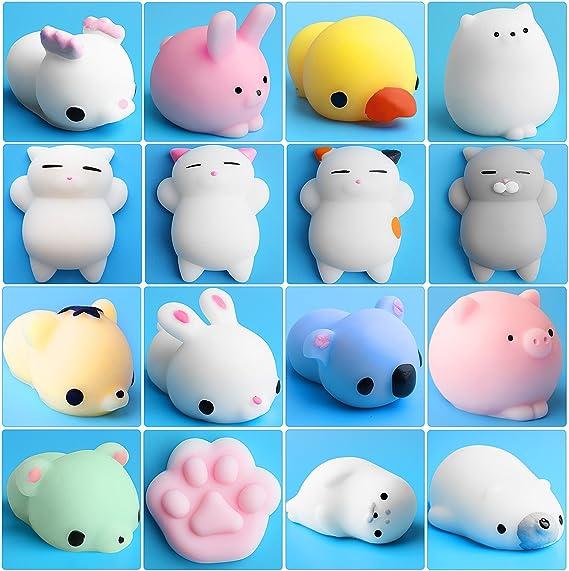 Outee 16 Pcs Al Azar Slow Rising Squishy Crema Scented Mini Animal Squishy Juguete Suave, Color Aleatorio: Amazon.es: Juguetes y juegos