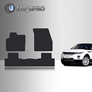 TOUGHPRO Floor Mat Accessories Set (Front Row + 2nd Row) Compatible with Land Rover Range Rover Evoque - All Weather - Heavy Duty - Black Rubber - 2012, 2013, 2014, 2015, 2016, 2017, 2018, 2019