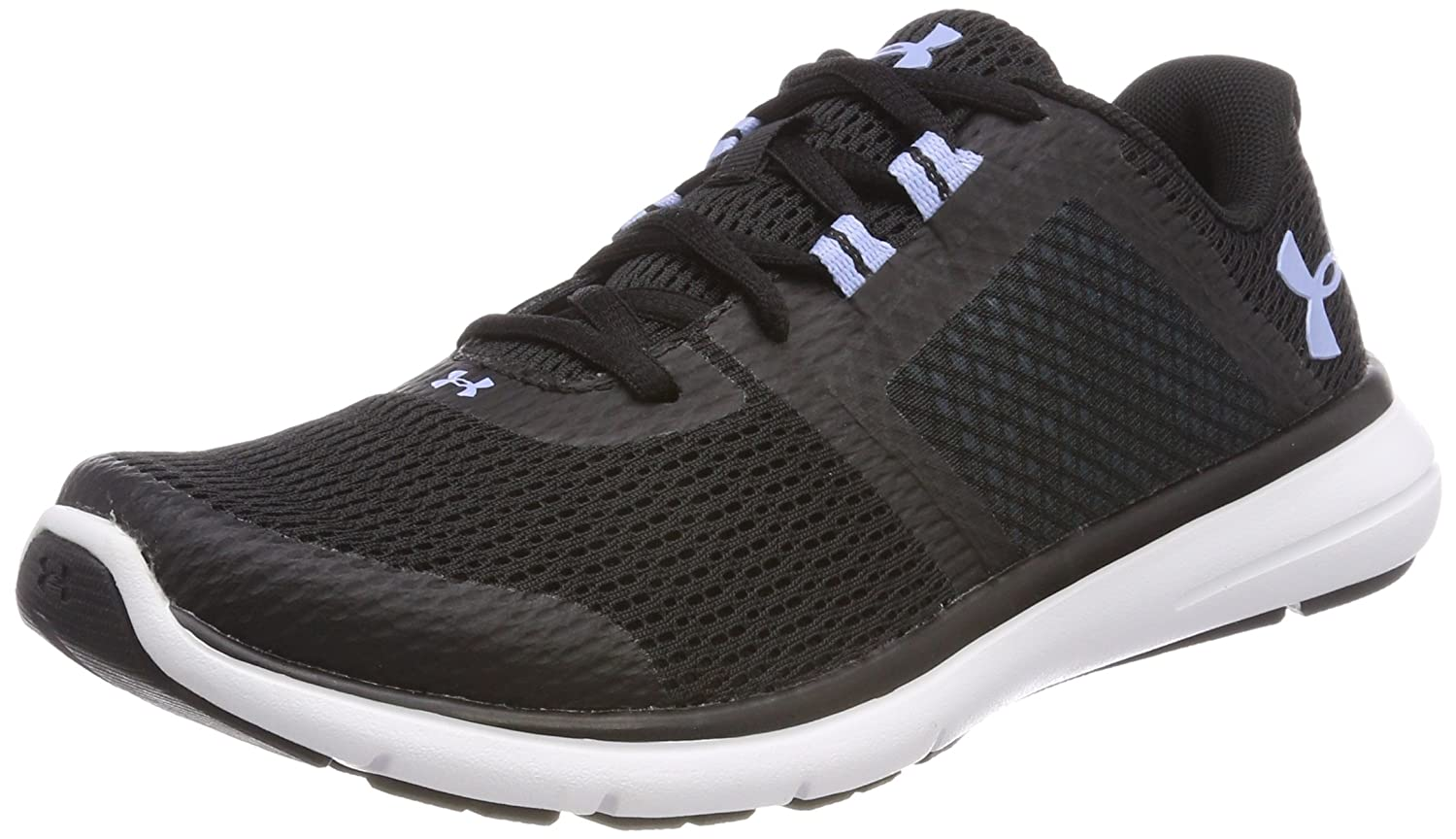 Under Armour Women's Fuse FST Cross-Country Running Shoe B0777SD8ML 8.5 B(M) US|Black/White/Blue